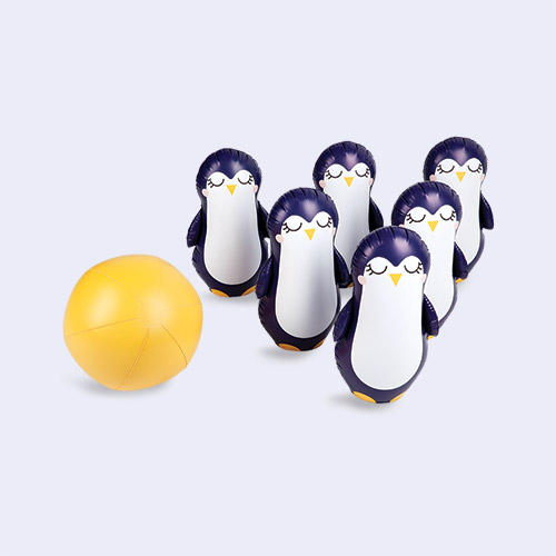 Blue Sunnylife Inflatable Penguin Skittles Game
