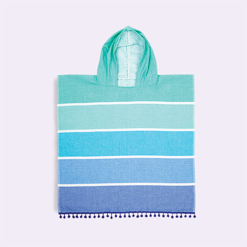 Pastel Blue Sunnylife Hooded Beach Towel