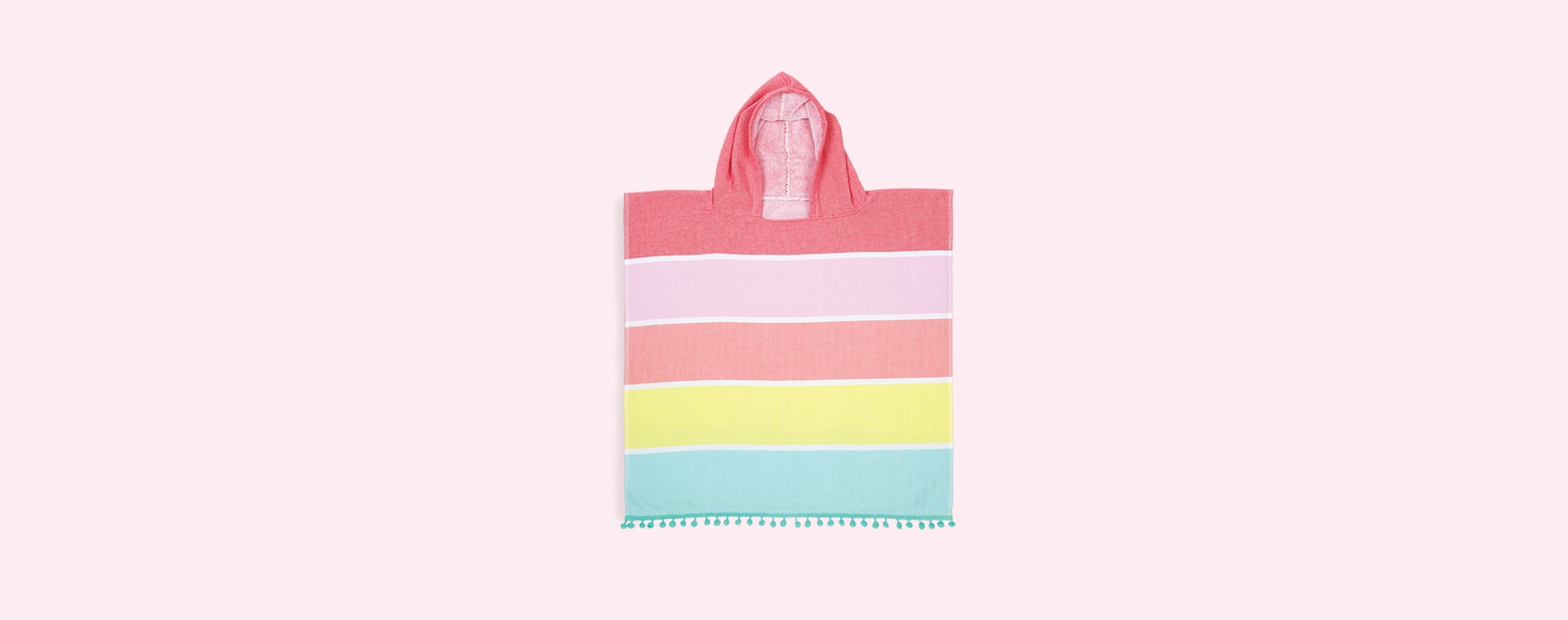 Pastel Pink Sunnylife Hooded Beach Towel