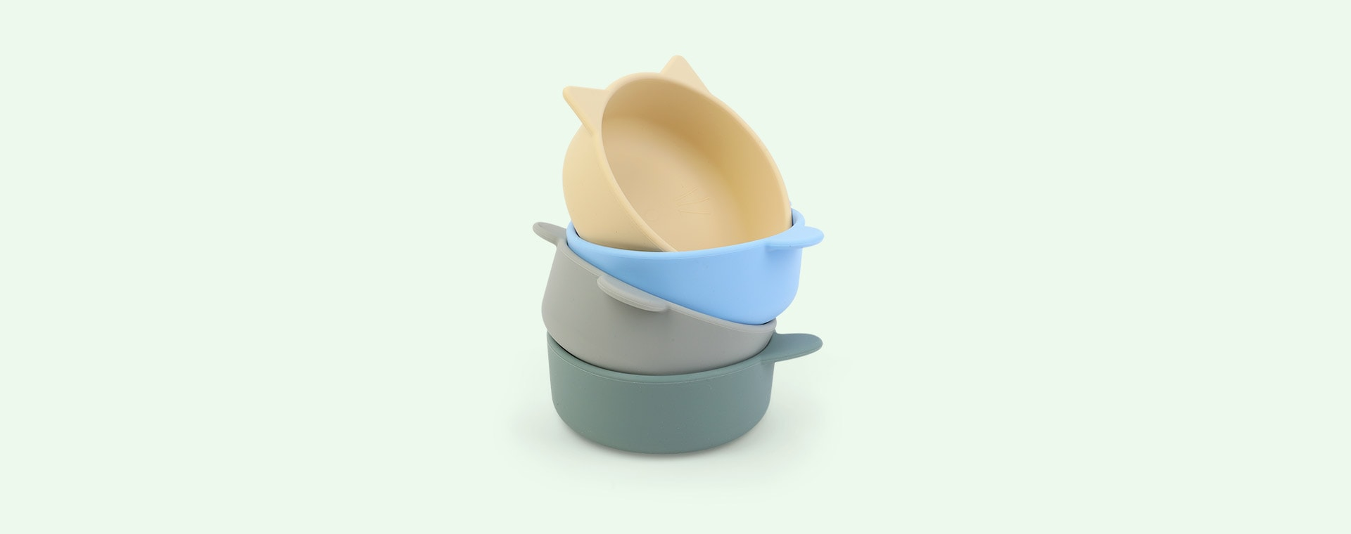 Peppermint Multi Mix Liewood 4-Pack Iggy Silicone Bowls