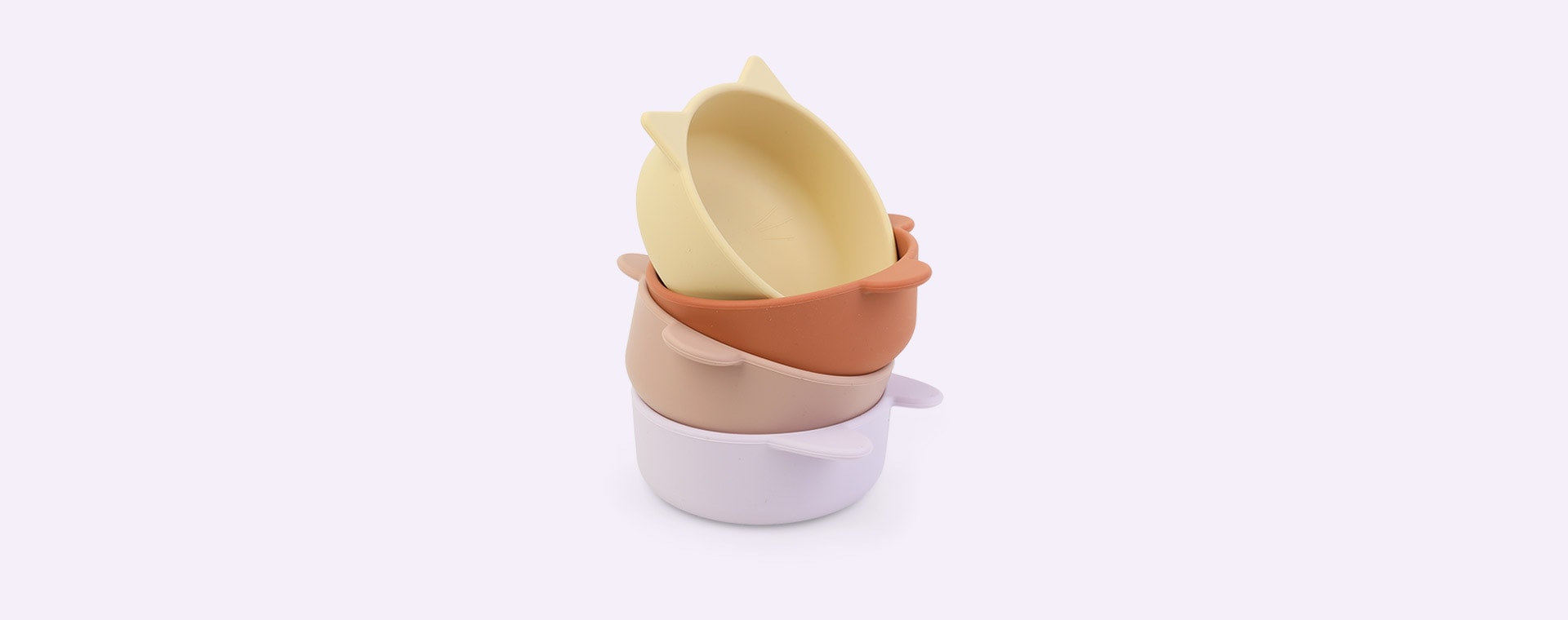 Light Lavender Multi Mix Liewood 4-Pack Iggy Silicone Bowls