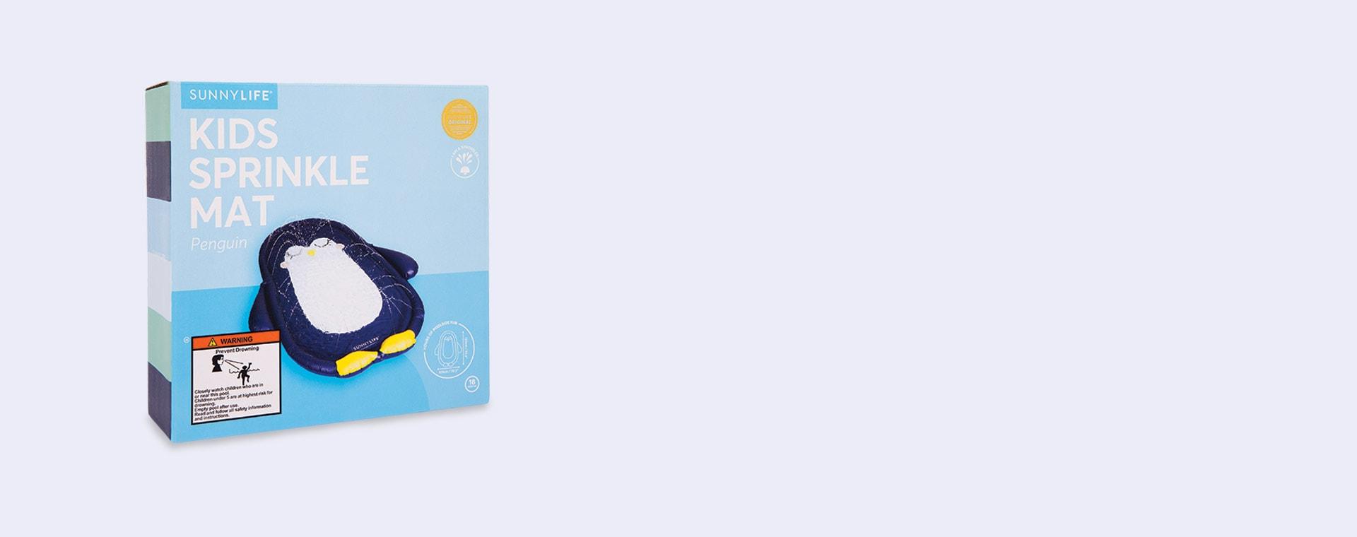 Blue Sunnylife Inflatable Penguin Water Mat