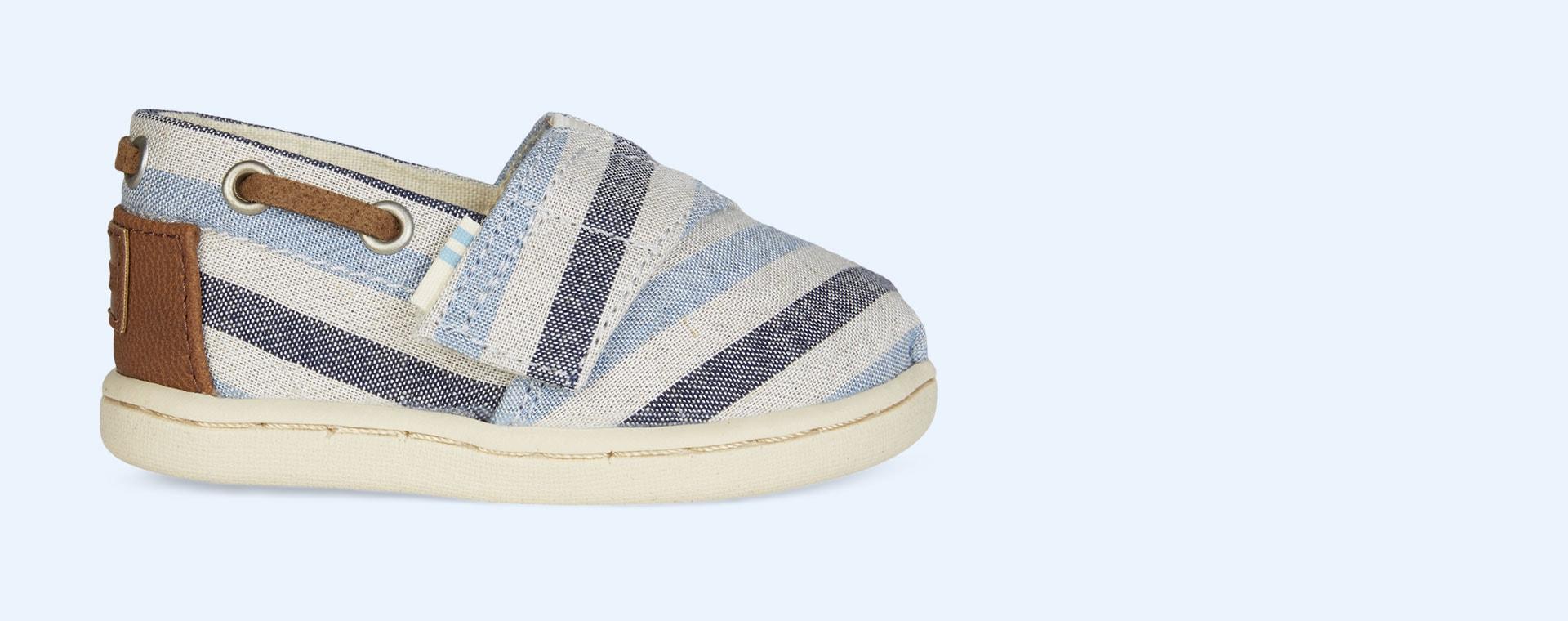 Blue TOMS Bimini Woven Stripe Espadrille