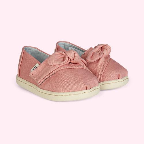 Pink TOMS Plant Dye Alpagarta Bow Espadrille