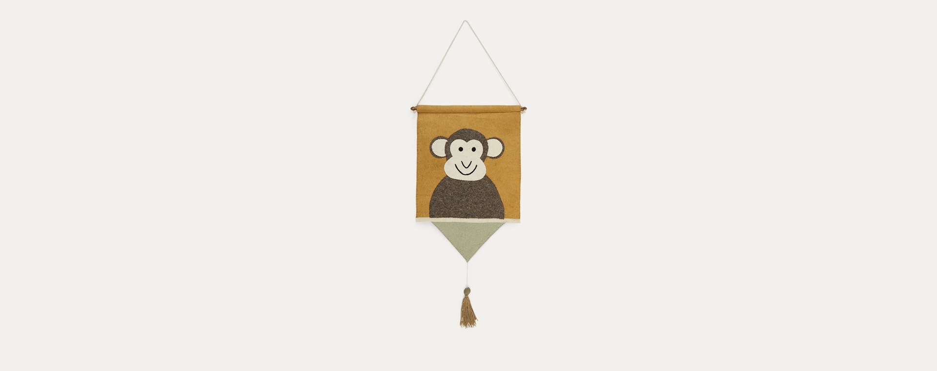 Yellow Kids Depot Monkey Wall Hanger
