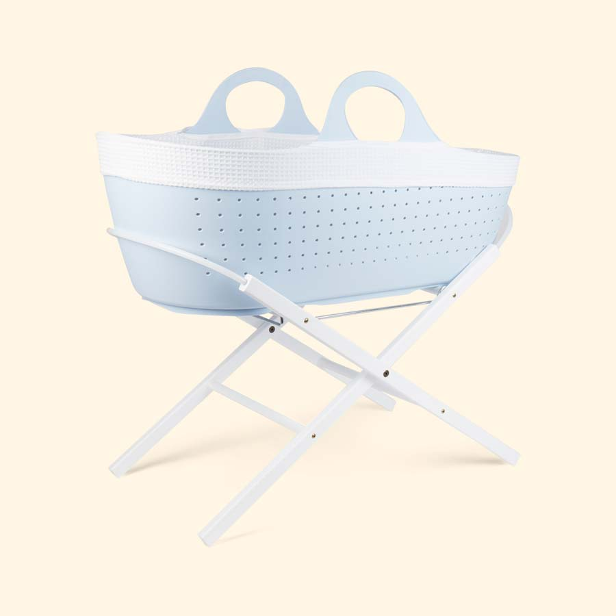 White East Coast Nursery Wooden Moses Basket Stand