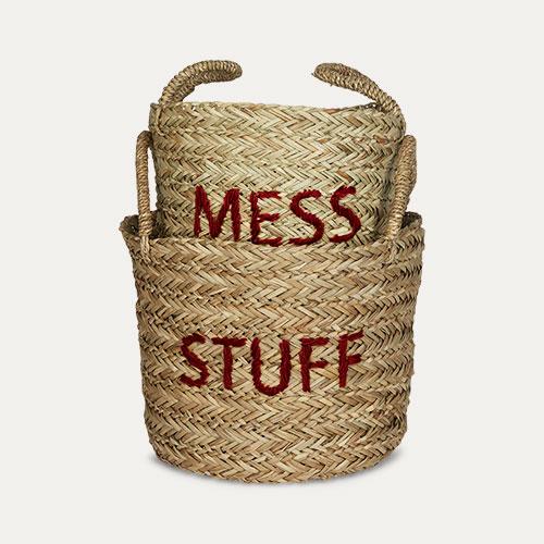 Red Kids Depot Mess/Stuff Storage Set