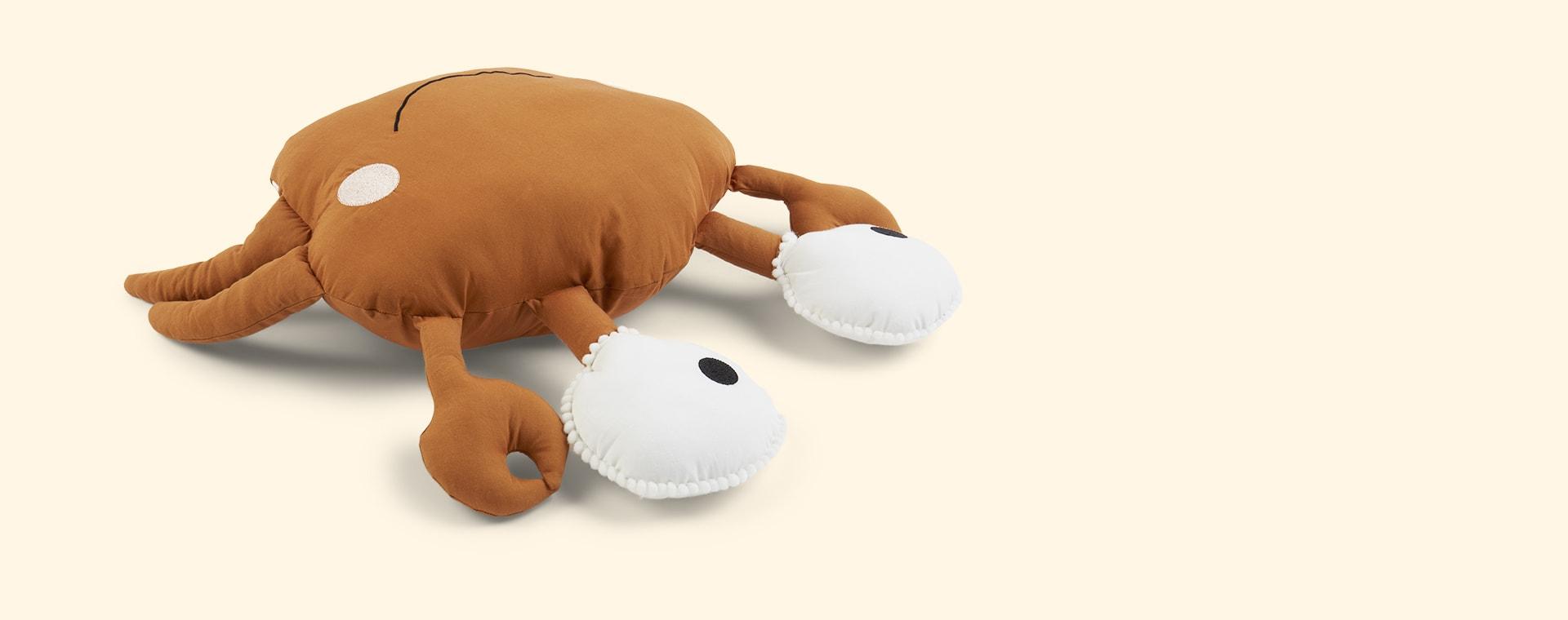 Orange Kids Depot Caro Crab Cushion
