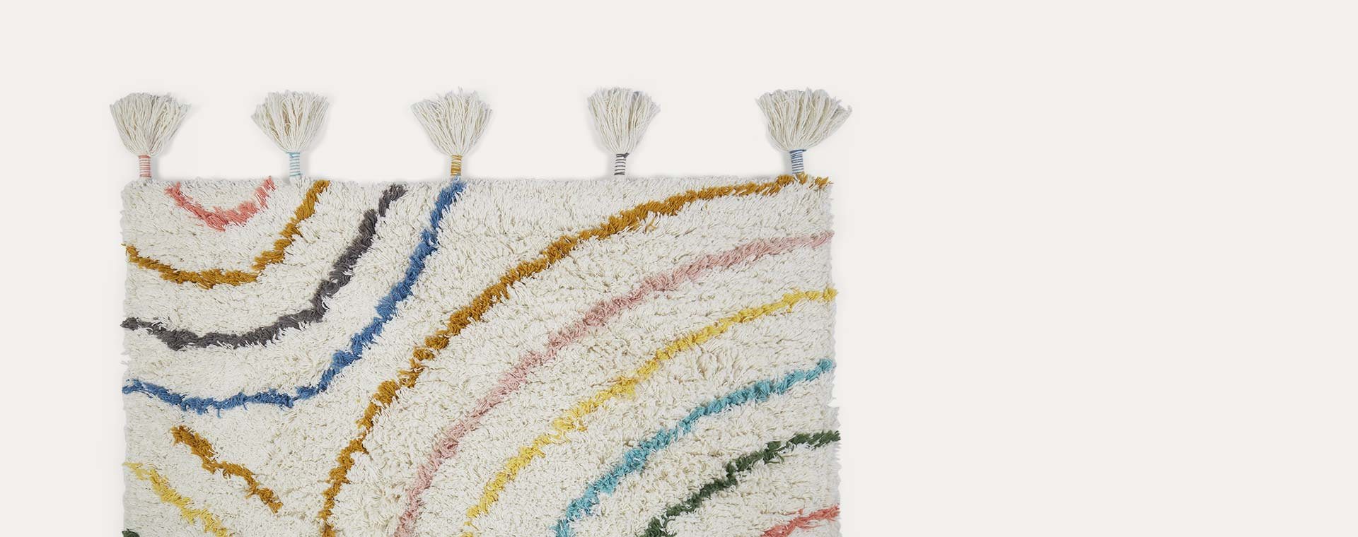 Cream Kids Depot Berber Pastel Rug