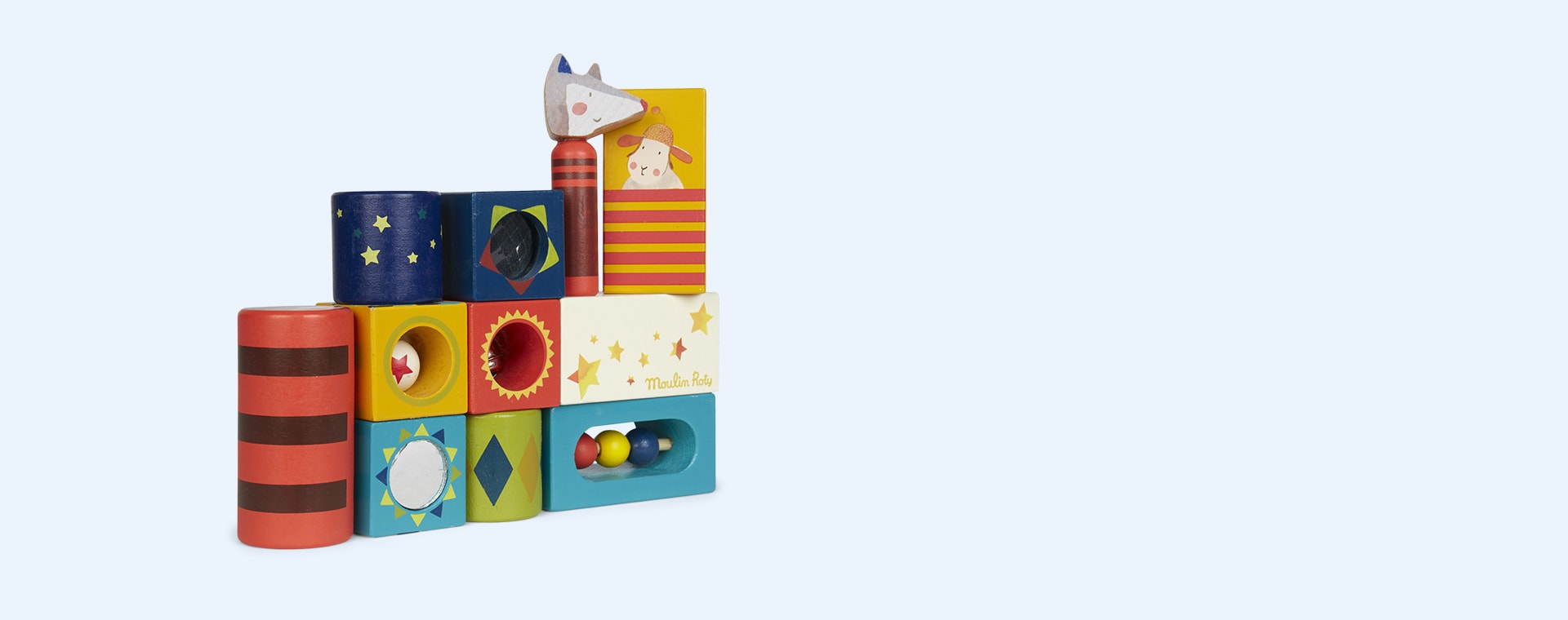 Multi Moulin Roty Stack Up Activity Cubes