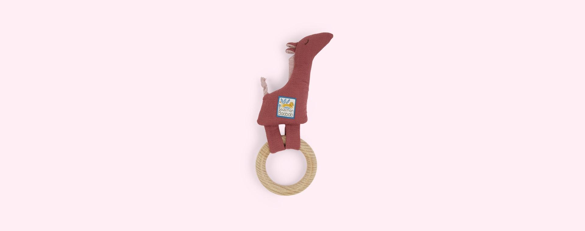 Giraffe Moulin Roty Ring Baby Rattle