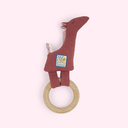 Giraffe Moulin Roty Ring Baby Rattle