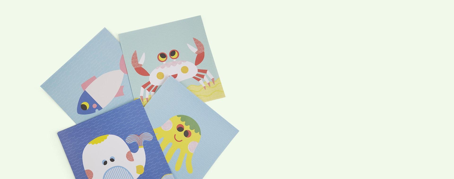 Multi Djeco Create With Stickers Sea Creatures