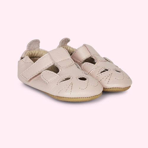 Powder Pink old soles Cutesy Soft sole Shoe