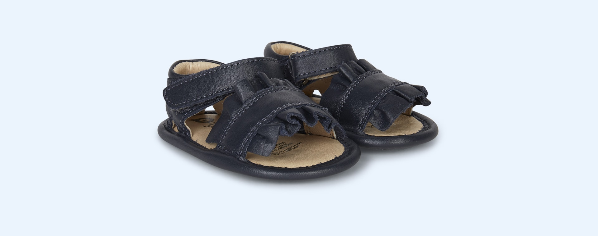 Navy old soles Ruffle Baby Soft Sole Sandal