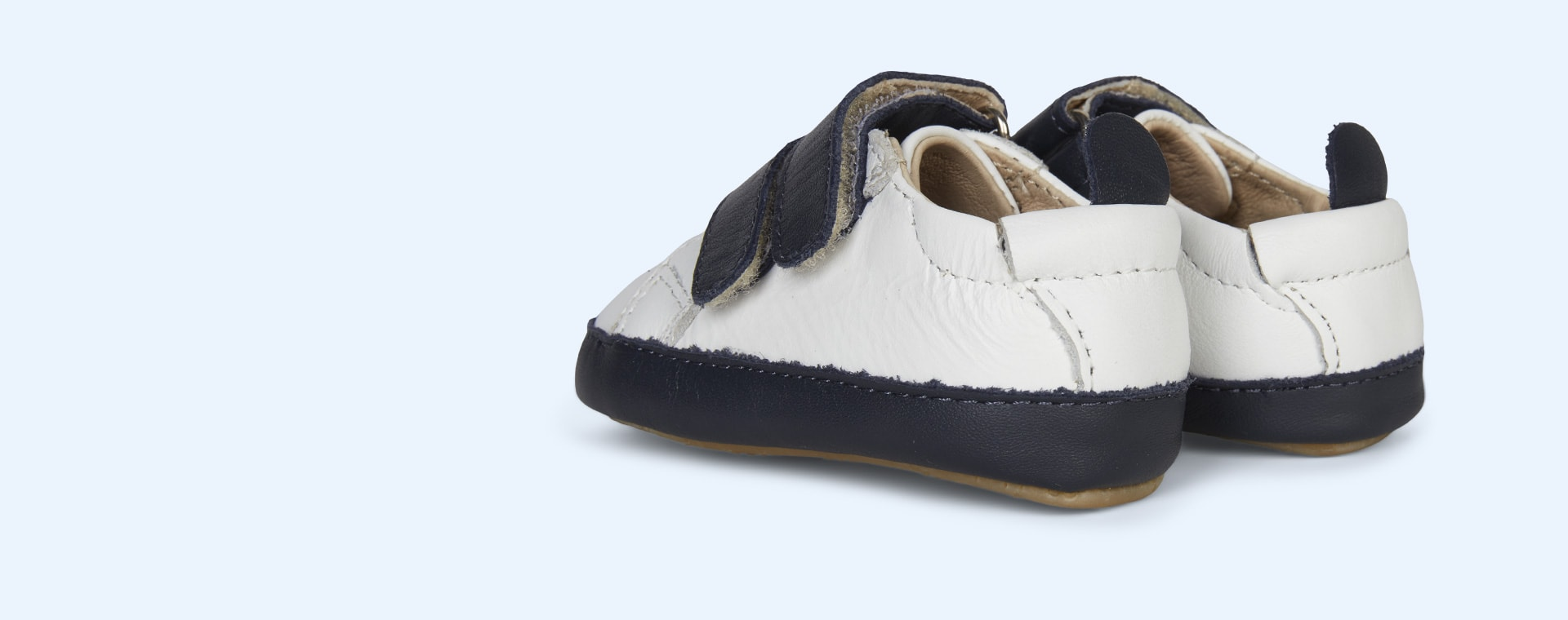 Navy old soles Eazy Market Soft sole Trainer