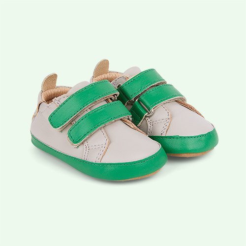 Gris / Neon Green old soles Eazy Market Soft sole Trainer