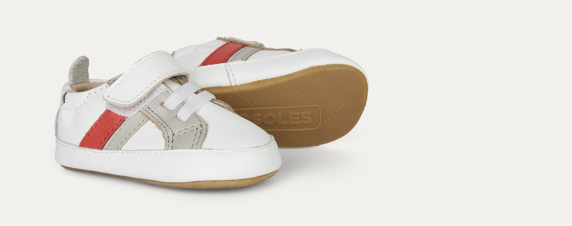 White old soles old soles Mini Jogger Soft Sole Trainer