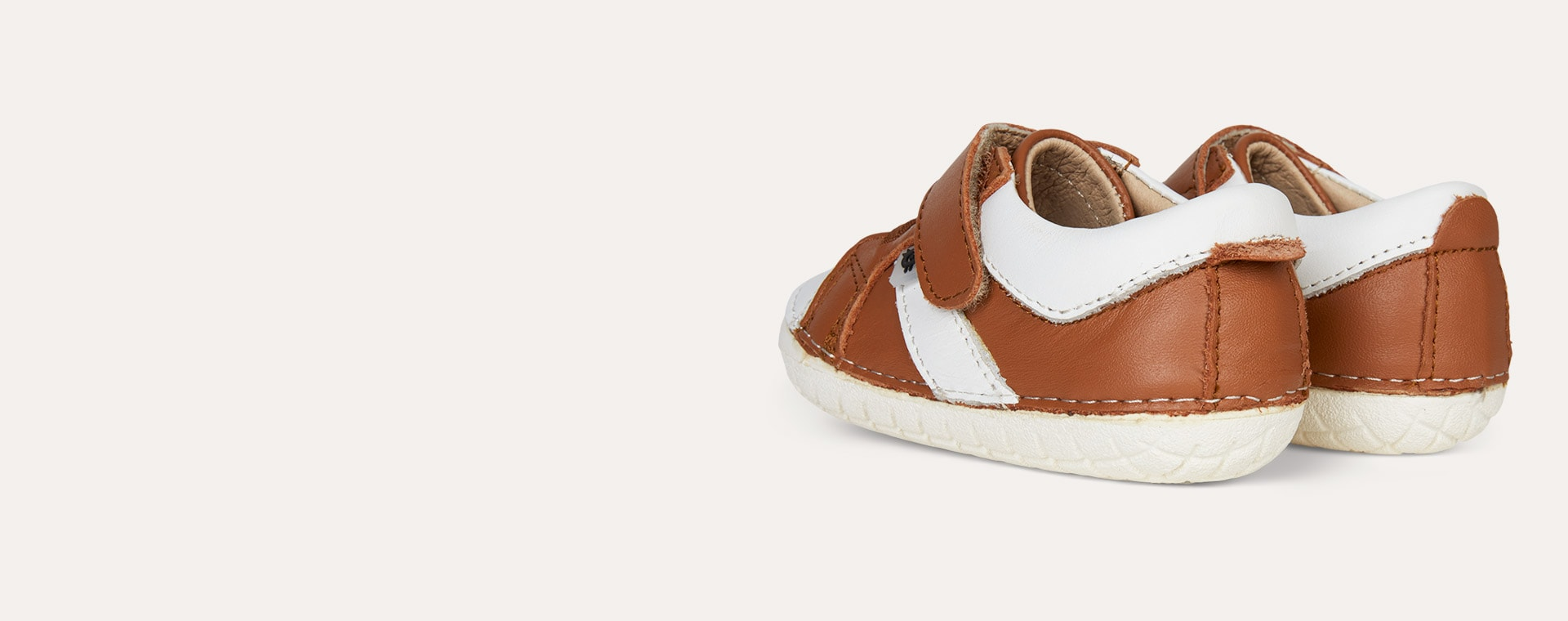 Tan old soles Ground Pave First Trainer