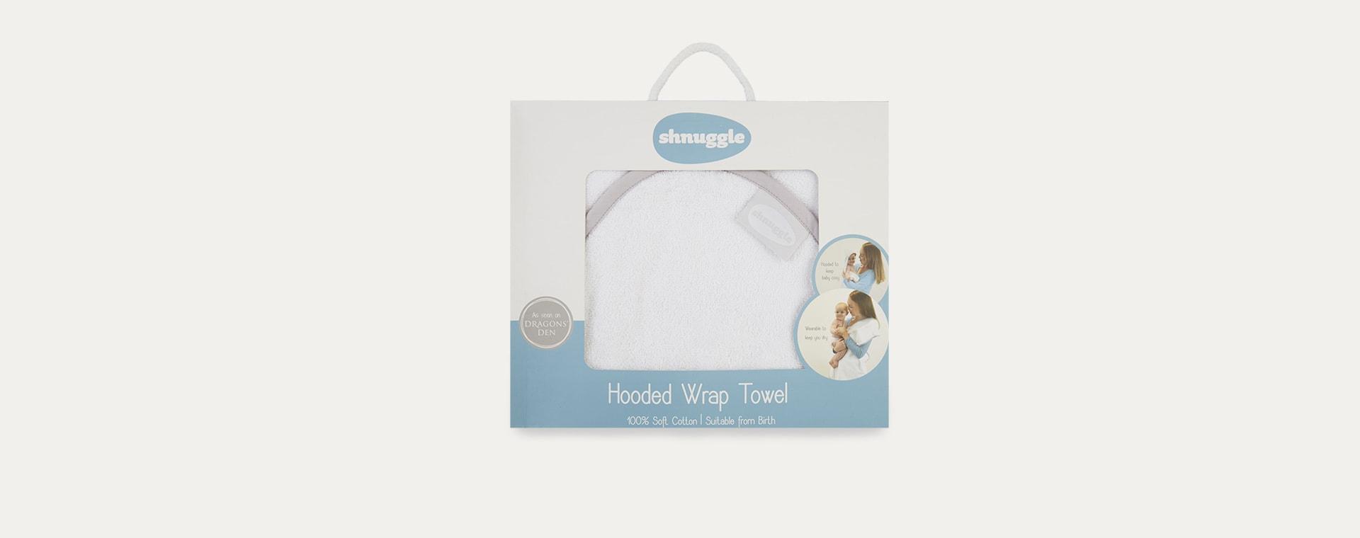 White Shnuggle Bamboo Baby Hooded Towel