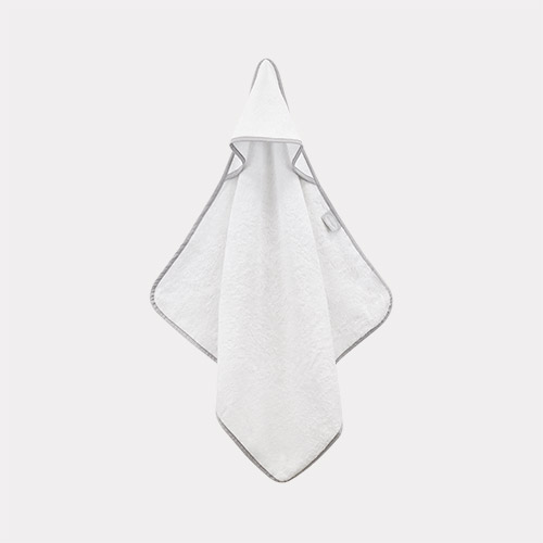 White Shnuggle Bamboo Baby Hooded Towel