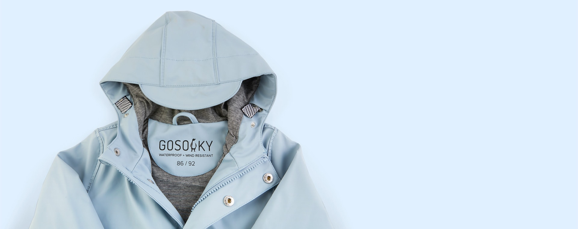 Blue Fog GOSOAKY Unisex Lined Raincoat