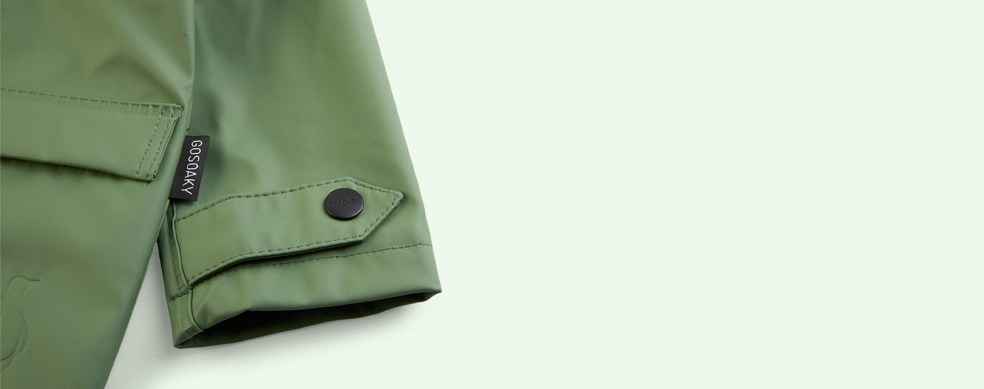 Sea Grass GOSOAKY Unisex Lined Raincoat