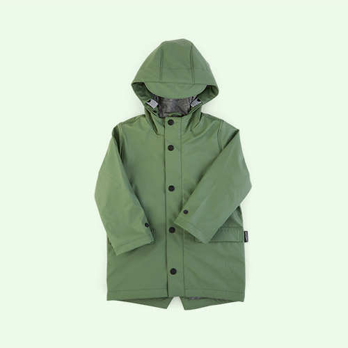 Sea Grass GOSOAKY Unisex Lined Raincoat