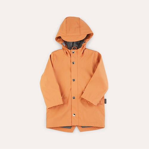 Terra Cotta GOSOAKY Unisex Lined Raincoat
