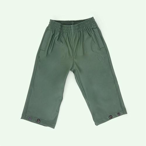 Forest Green GOSOAKY Unisex Waterproof Rain Pants