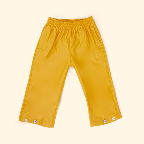 Golden Yellow GOSOAKY Unisex Waterproof Rain Pants