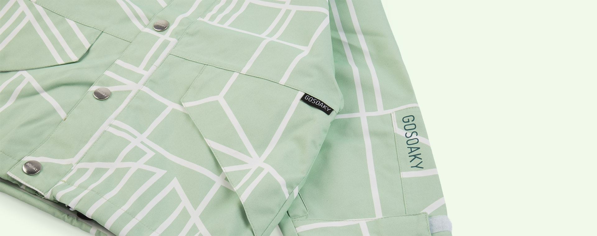 Green GOSOAKY Waterproof Jacket