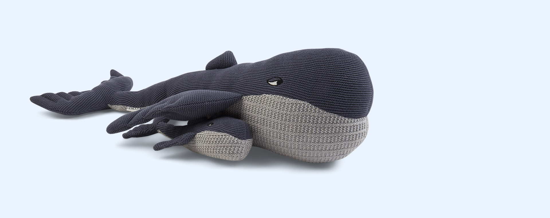 Whale Blue Wave Liewood Doby Teddy With Baby