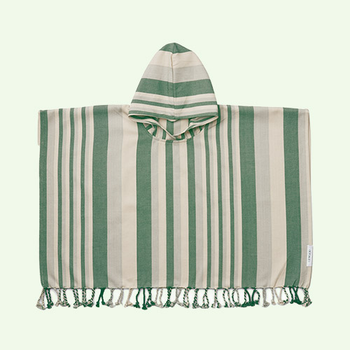 Garden green/sandy/dove blue Liewood Roomie Poncho