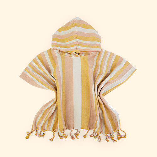 Peach/sandy/yellow mellow Liewood Roomie Poncho
