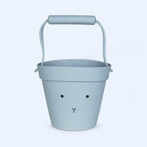 Rabbit Sea Blue Liewood Linda Silicone Bucket