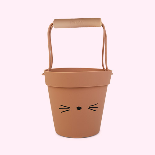 Cat dark rose mix Liewood Linda Silicone Bucket