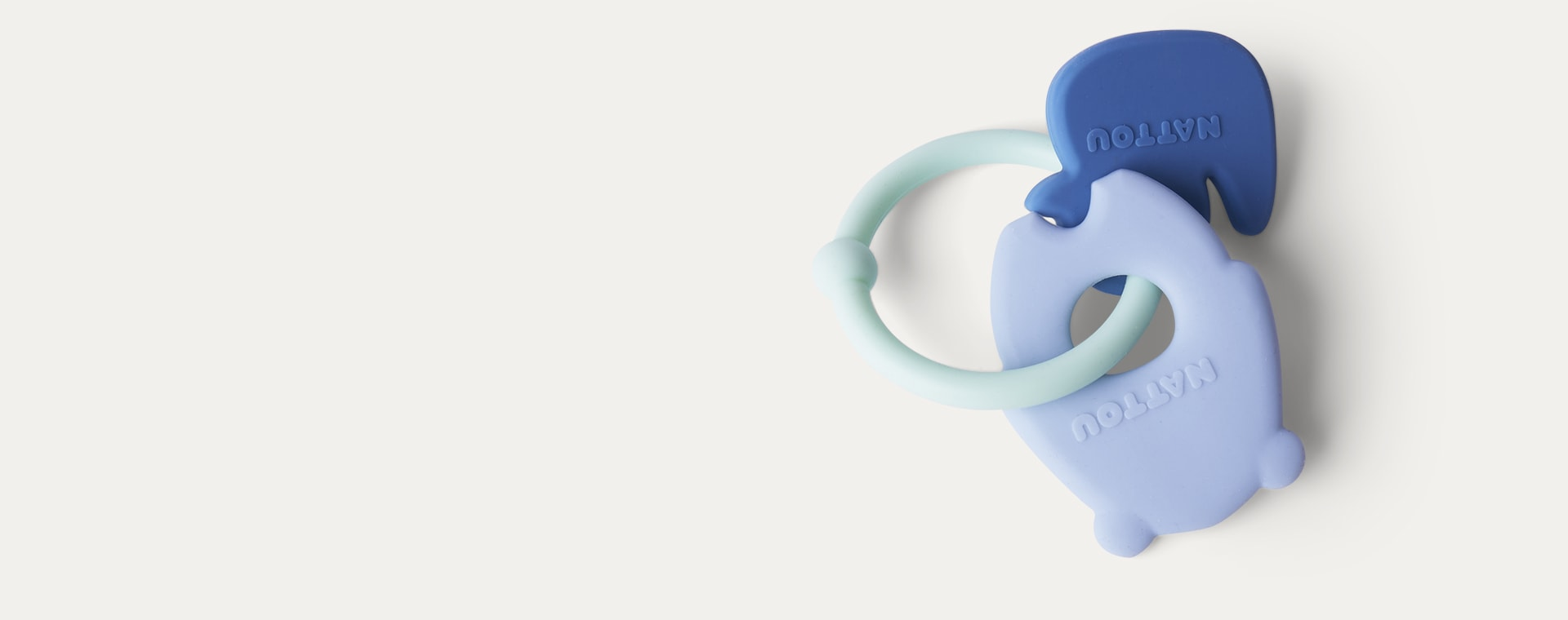 Blue Bear & Duck Nattou Activity Silicone Rattle