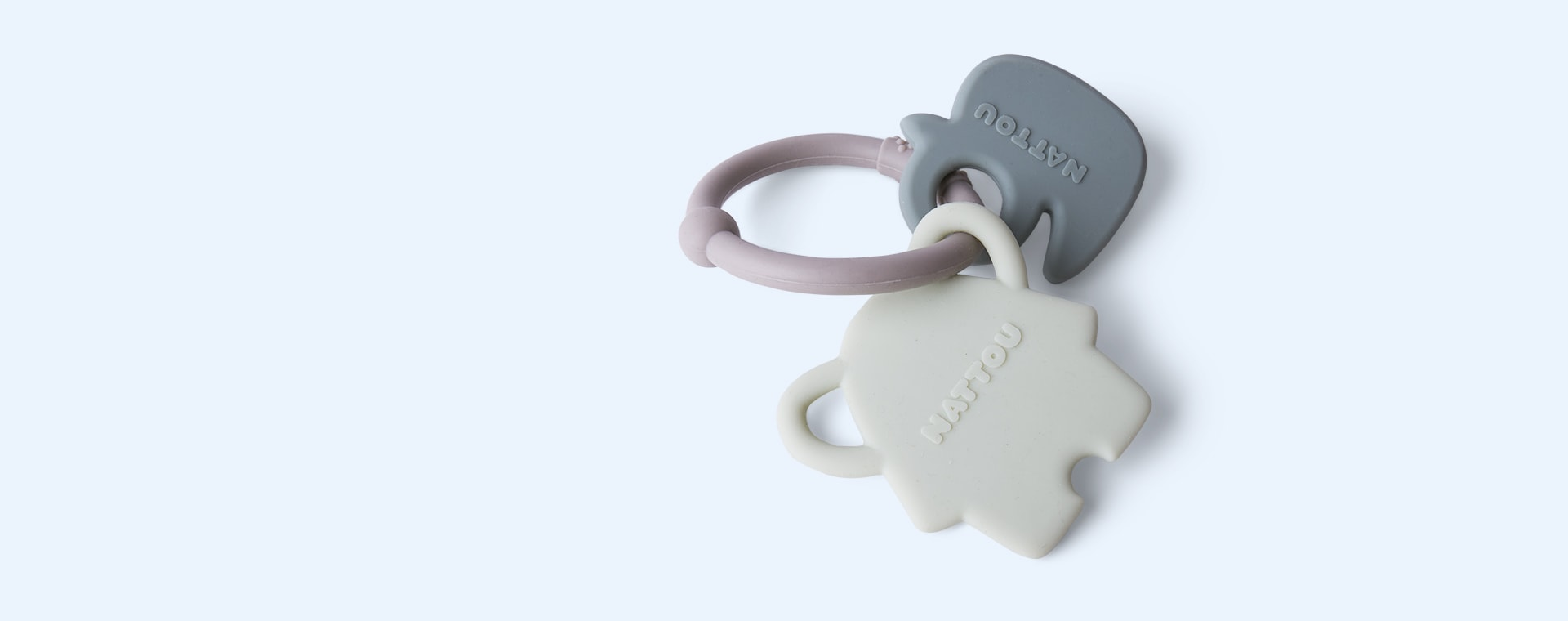 Elephant & Duck Nattou Activity Silicone Rattle