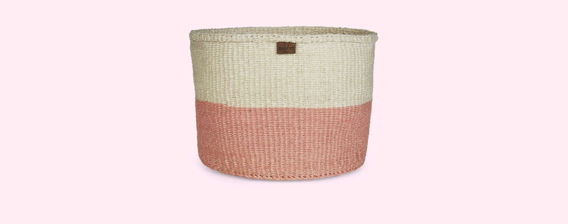 Soft Pink The Basket Room Colour Block Basket