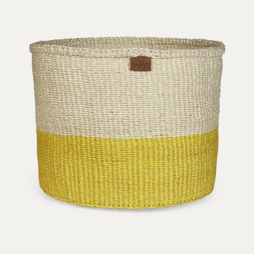 Yellow The Basket Room Colour Block Basket