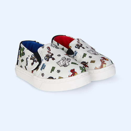 White TOMS Marvel Luca Slip On Shoe