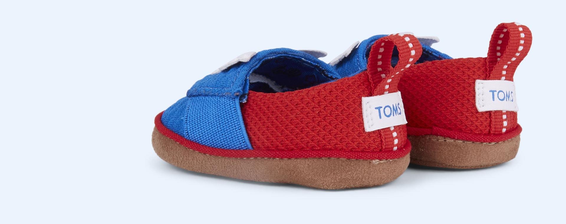 Blue TOMS Marvel Captain America Pinto Shoe