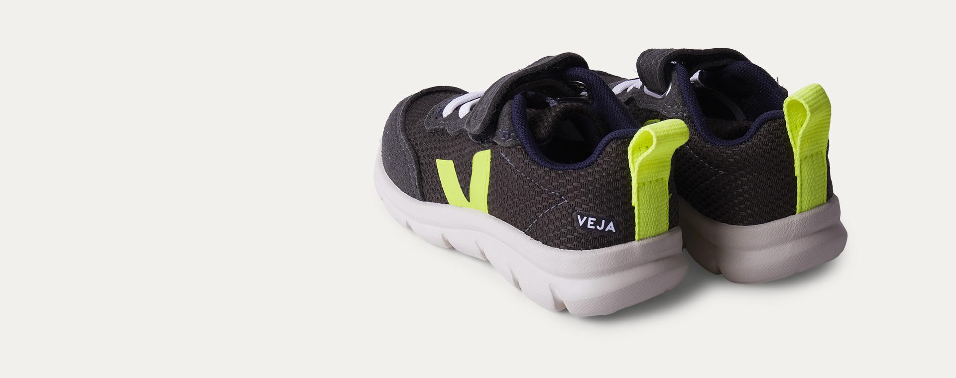 Olive Fluo Veja Vegan B-mesh Trainer