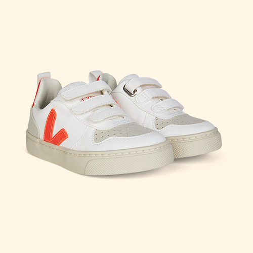 Orange Veja V-10 Vegan Trainer