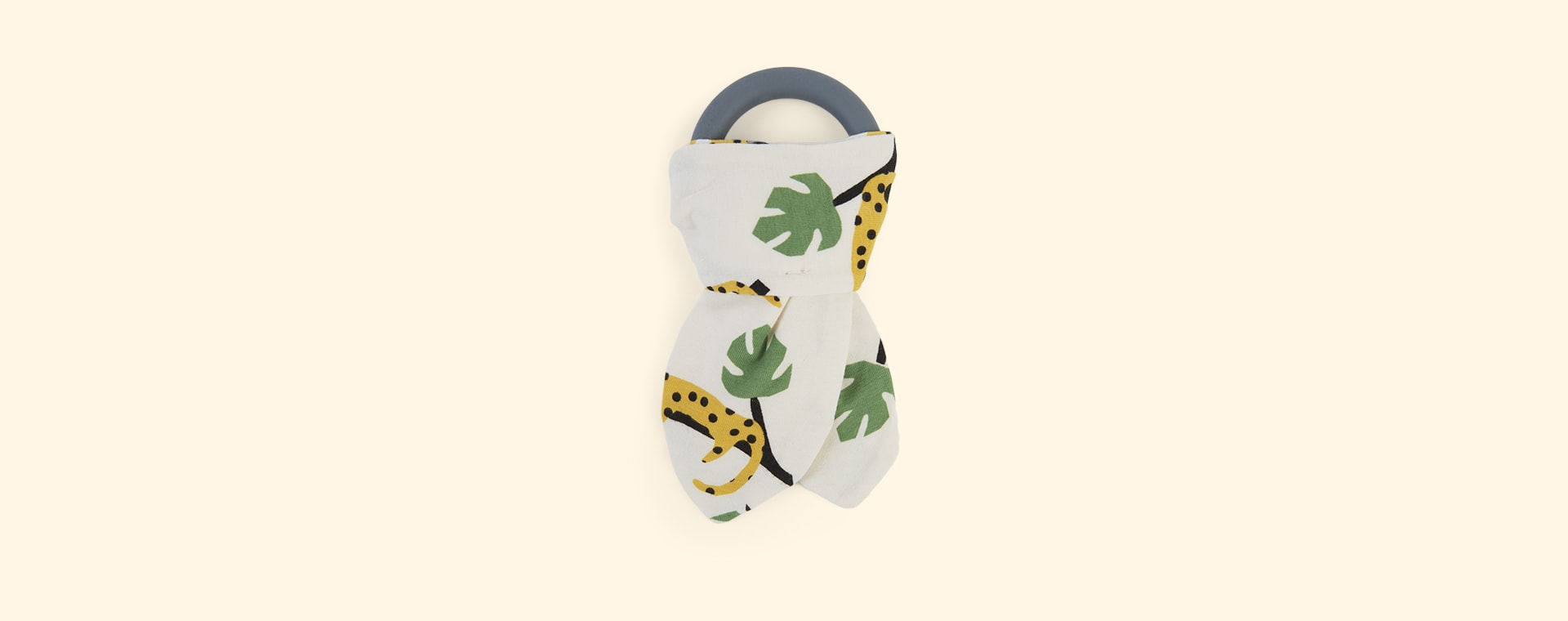 Mustard Leopard The Bonnie Mob Copacabana Teething Ring