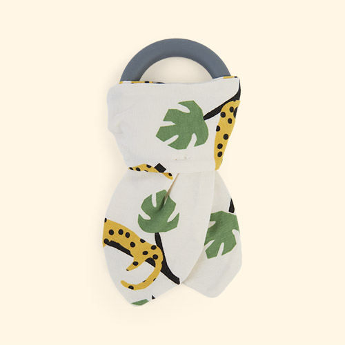 Mustard Leopard The Bonnie Mob Copacabana Teething Ring