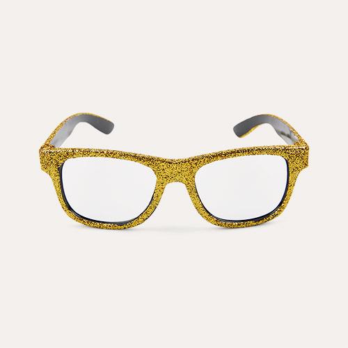 Gold Mimi & Lula Glittery Glasses