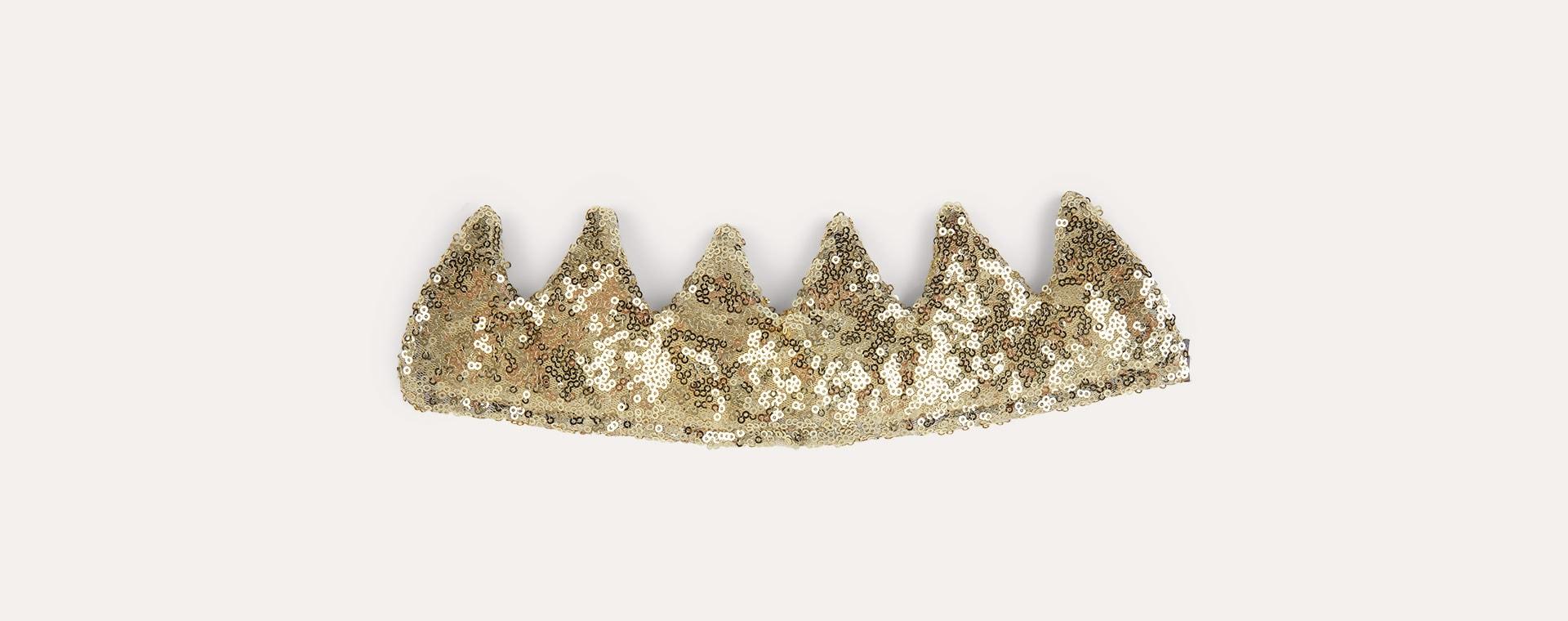 Gold Mimi & Lula Sequin Crown