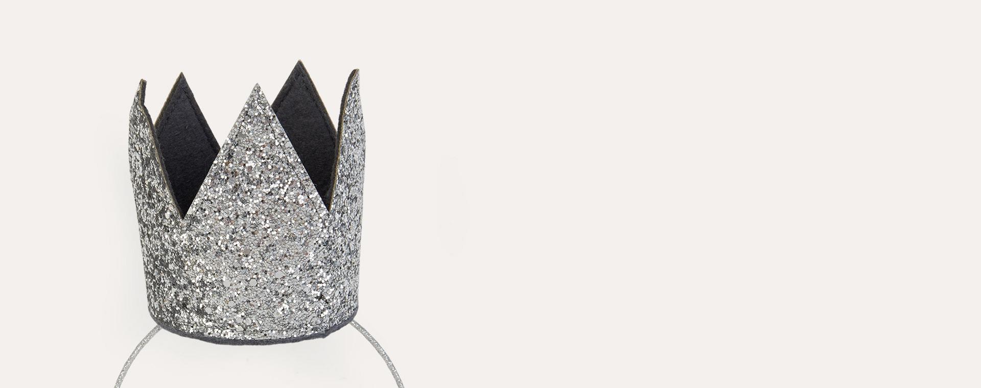 Silver Mimi & Lula Glitter Crown Headband